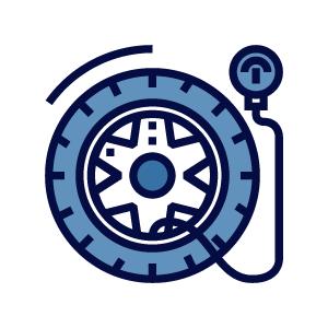 revisión de neumáticos en la inspección técnica de vehículos
